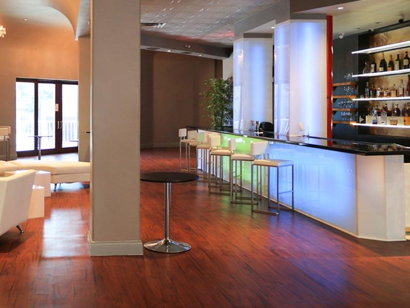banquet bar area