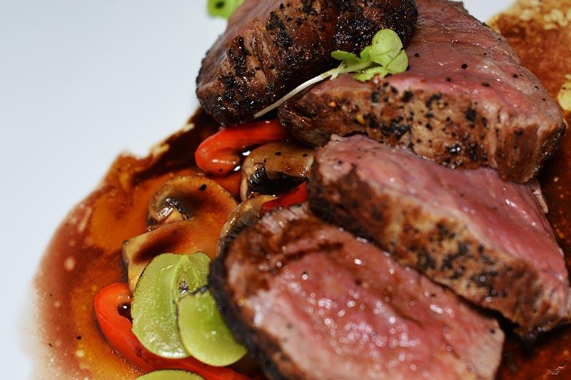 fine dining steak